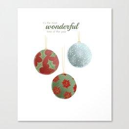 Wonderful Christmas Canvas Print