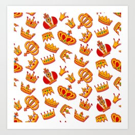 Crowns pattern Art Print