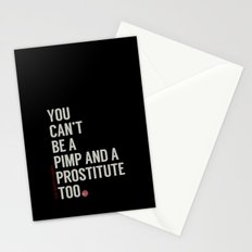 White Stripes Stationery Cards
