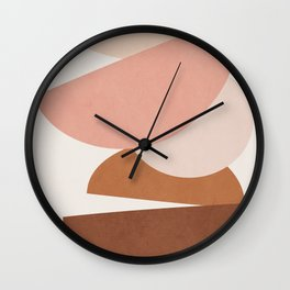Abstract Stack II Wall Clock