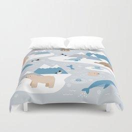 Arctic animals Duvet Cover