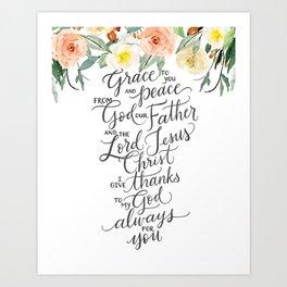 Grace & Peace Art Print