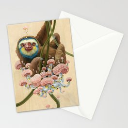 Silly Sloth Stationery Cards