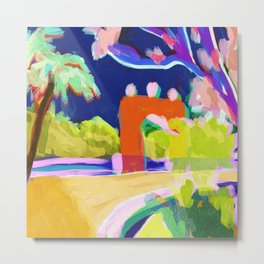 Summer Road Abstract Landscape Metal Print