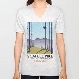 Scafell Pike Lake District National Park Unisex V-Neck