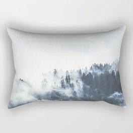 Foggy Forest Calm Landscape Rectangular Pillow
