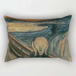 Classic Art - The Scream - Edvard Munch Rectangular Pillow