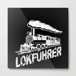 Train Driver Railway Lover Gift Idea Design Metal Print