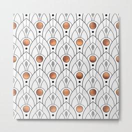 Art Deco Leaves / Version 2 Metal Print