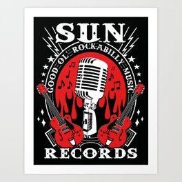 SUN RECORDS Art Print