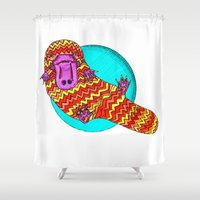 platypus Shower Curtains featuring Platypus by Ruth Wels