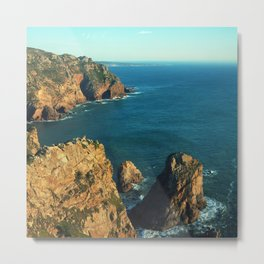 Cabo da Roca, Portugal Analog 6x6 Kodak Ektar 100 (RR 160) Metal Print
