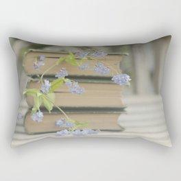 Forget Me Not Bookmark Rectangular Pillow