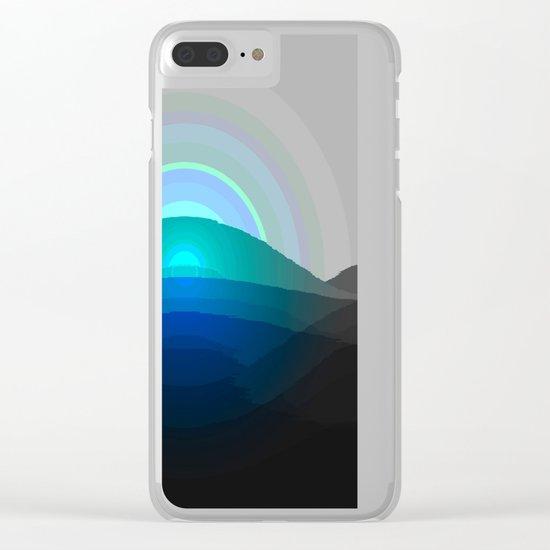 Blue Sunrise Clear iPhone Case