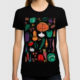 fall veggies purple T-shirt