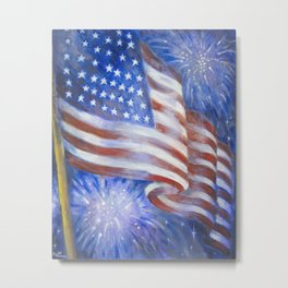 I Pledge Allegiance to the Flag Metal Print