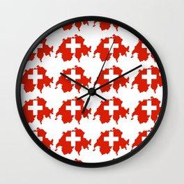 flag Switzerland 3-,Swiss,Schweizer, Suisse,Helvetic,zurich,geneva,bern,godard,heidi Wall Clock