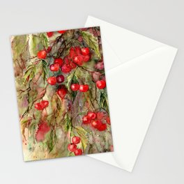 October Cherries Stationery Cards