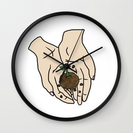 Life Is In Your Hands Wall Clock