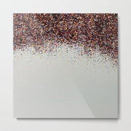 Glitter Sparkle Confetti Rainbow Party Metal Print