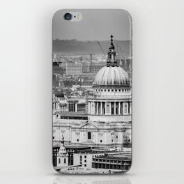 Aerial View of St Paul's Cathedral in Black & White iPhone Skin