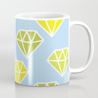 diamonds Mugs featuring Diamonds by evannave