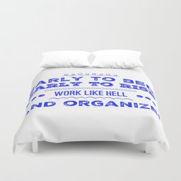 Work & Organize Duvet Cover