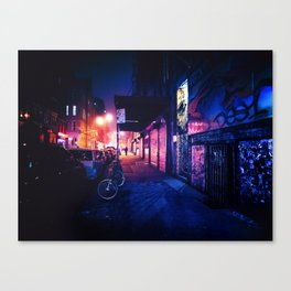 Lower East Side - Night on Rivington Street Canvas Print