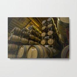 Winery Barrels Metal Print