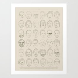 36 Funny People Art Print