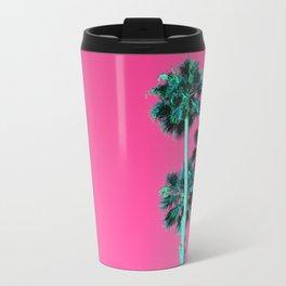 Pink Neon Palms Travel Mug