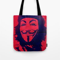 che Tote Bags featuring Expect Che by rubbishmonkey