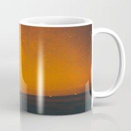 Orange Sepia Vintage Night Star Sky Minimal Landscape Coffee Mug