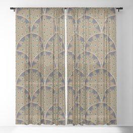 Peacock Art Deco Sheer Curtain