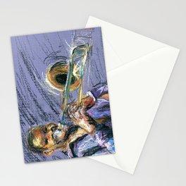 Jazz Trombonist Stationery Cards