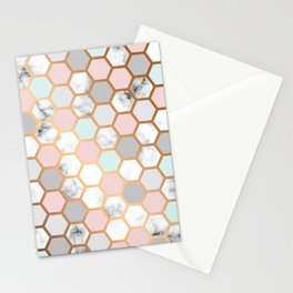 Geometry Gold 025 Stationery Cards