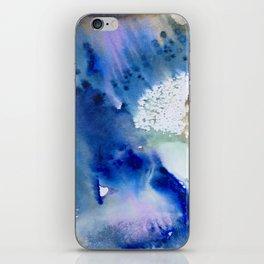 watercolor monoprint - the beginning iPhone Skin