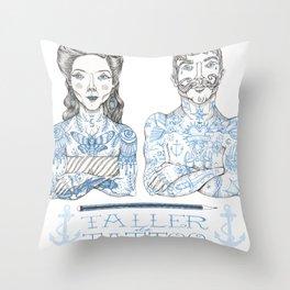 Taller Tattoo Throw Pillow