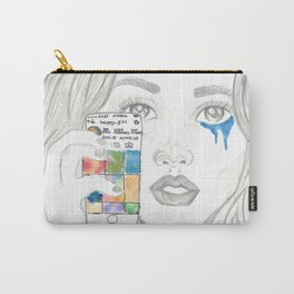 Happy/Sad Instagram Girl Carry-All Pouch