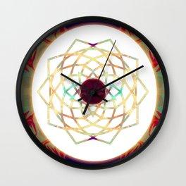 1000 Petalled Lotus Abstract Chakra Art Wall Clock