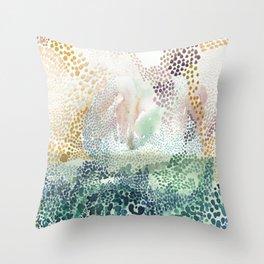 Flower burst; gold Throw Pillow