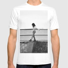 Lost White Mens Fitted Tee MEDIUM