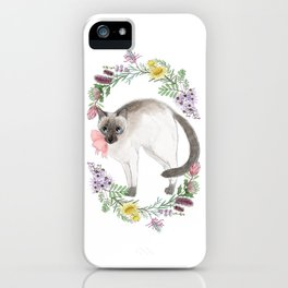 Pixie the Chocolate Siamese Cat iPhone Case