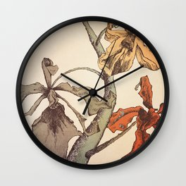 Hello Orchids Wall Clock