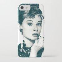 hepburn iPhone & iPod Cases featuring My Hepburn by Thubakabra