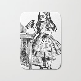 Drink Me Alice in Wonderland Bath Mat