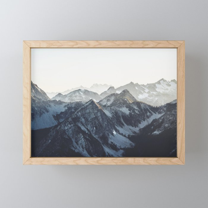 Mountain Mood Framed Mini Art Print