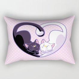 Moon Kitty Love Rectangular Pillow