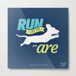 Run Like Dogs Metal Print