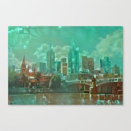 Melbourne Waterfront Abstract Canvas Print